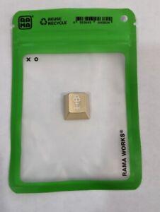 Rama x Keycult Brass & White Keycap - Brass Keycap (Cherry MX)