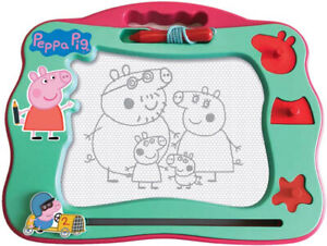 Peppa Pig Travel Magnetic Scribbler Drawing Board Draw, Stamp Erase Kids Toy 3+
