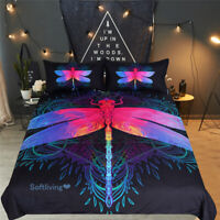 Mandala Dragonfly Single/Double/Queen/King Size Bed Quilt/Doona/Duvet Cover Set