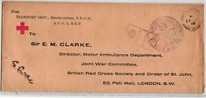 GP GOLDPATH: GREAT BRITAIN RED CROSS COVER 1918 _CV698_P18
