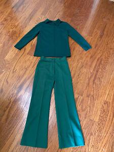 Vintage 70s Women's Polyester Leisure Suit Pants Size 6 Fantastic Condition