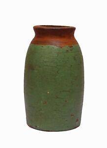 Indian Old Vintage Hand Made Unique Wooden Flower Pot Decorative WD 224