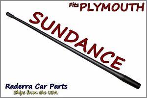 "FITS: 1987-1994 Plymouth Sundance 13"" SHORT Custom Flexible Rubber Antenna Mast"