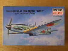 "1:144 Minicraft N°14432 KAWASAKI KI-61 HIEN Fighter "" Tony "" . KIT DE MONTAGE"