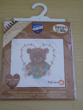 Brand New-Vervaco-DMC-Counted Cross Stitch Kit-Popcorn Heart and  Flowers