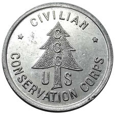 Minnesota Token - CCC Camp 3710, Houston MN, Civilian Conservation Corps, 1930s