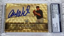 Alex Wilson 2010 Bowman Platinum Auto Superfractor Proof Card PSA/DNA COA