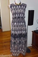 NWT Plus Size Designer Speed Control Chiffon Maxi Dress, 2X