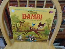 Walt Disney Bambi [Story and Songs with Book] LP Disneyland Records VG+