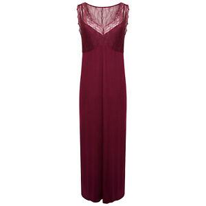 Biba Ladies Long Sleeveless Lace Top Soft Jersey Nightdress