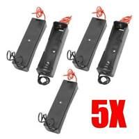 5PCS Black Plastic Battery Case Holder Storage Box for 1 x 18650 Batteries 3.7V