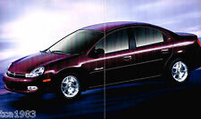 2000 Chrysler Plymouth NEON Brochure/Catalog with Color Chart: LX. '00