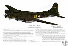 "Ernie Boyette Print ""Memphis Belle - Boeing B-17F"" Signed by Col. Robert Morgan"