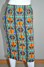 LUBLU Kira Pastinina Aztec Southwestern Geometric Pencil Skirt sz Small NEW