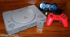 Sony PlayStation PS1 Gray Console (NTSC) With 2 Controllers & Accessories