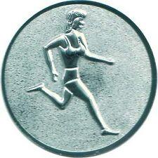 50 Embleme D:25mm Leichtathletik Damen 3D #8 (Medaillen Pokale Emblem Medaille)