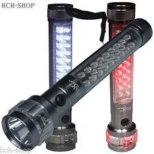 LED TORCIA ELETTRICA MISURA 3 funzioni luce lampeggiante 18 BIANCO 9 ROSSO