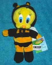 "WARNER BROTHERS STUDIO TWEETY BIRD ENCHANTED GARDEN BUMBLE BEE 7"" BEAN BAG PLUSH"