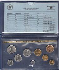 FRANCE coffret FDC fleur de coin 1981 série des monnaie francaises 1981