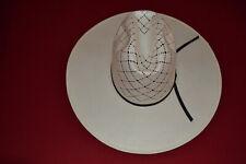 3d5f3ffdbb5cc Straw Cowboy Hat SIze 7 American Hat Company Western Long Oval Unshaped Brim
