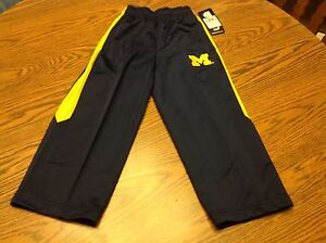 NWT - Michigan Woverines Blue Youth Athletic Long Pants Size Small (4)