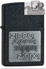 Zippo 363 pewter emblem crackle Lighter with PIPE INSERT PL