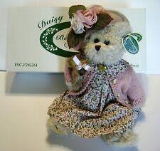 "New ListingBearington Bears Daisy & Belle 14� Plush Bear With Pink Floral Dress & Dog ""New"""