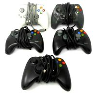 Lot of 5 Xbox 360 corded Controllers without Breakaways Untested
