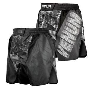 Venum Herren Fight Shorts Tactical Trainingshorts Schwarz XS-2XL MMA Muay Thai