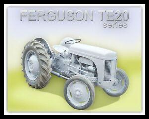 FERGUSON TE20 FARM TRACTOR GREY MARE FARMING FARMING METAL SIGN WALL PLAQUE 1368