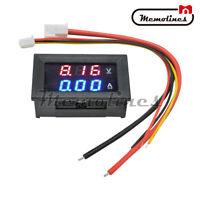 DC100V 50A Voltmeter Ammeter Red Blue LED Dual Digital Voltage Amp Meter Gauge