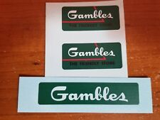 TONKA TRUCK DECAL SET OF THE GAMBLES PICK UP