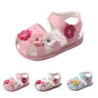 Toddler Flowers Girls Sandals Lighted Soft-Soled Princess Baby Shoes 0-3.5Years