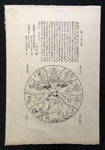 Keisai Eisen, Buddhistisches Mandala, Holzschnitt, 1806, von Originalplatte