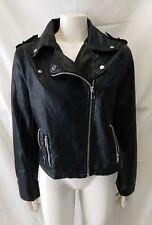 giacca jacket donna ecopelle modello chiodo stradivarius taglia