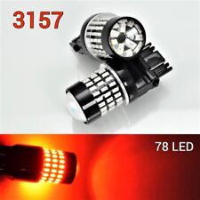 T25 3057 3157 4157 SRCK Front Turn Signal Light Red 78 SMD LED Bulb B1 For Ford