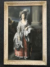 About Hundred Years Old Large Oil Painting Of Lady