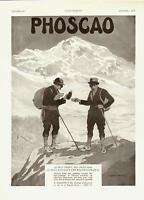 1931- PHOSCAO Cocoa  - French Ad, Climbing