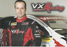 Fabrizio Giovanardi VX Racing PROMO CARTE voitures de tourisme.