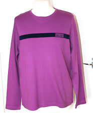 Maine UK16 EU44 new purple/navy long-sleeved top in 100% cotton