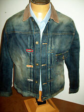 Barbour International Embroidered Selvedge Cotton Jean Jacket NWT Large $399