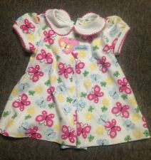 CARTER'S BUTTERFLY ADORABLE DRESS MULTICOLOR GIRL'S 3-6 MONTHS S/S very cute