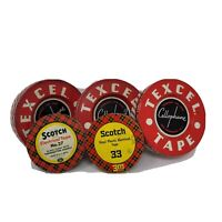 Vintage Scotch Electrical Tape Texcel Cellphone Tape Metal Advertising Tins