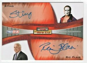 2010 Tristar TNA WWE AEW Sting & Ric Flair Authentic Signed Auto Card #'d 1/5