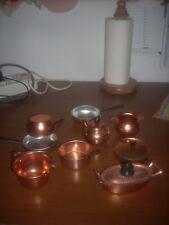 accessori cucina in rame per cucinare   x bambole