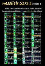 Diablo 3 ps4/Xbox One-todos 30 legendario completamente sets-sobre 150 items + Gold