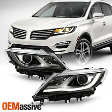 For 2015-2019 Lincoln MKC 4-Door [HID/Xenon] LED DRL Projector Headlights Pair