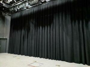 High Quality Pleated Stage Curtains - Fire Rated - 75% Off