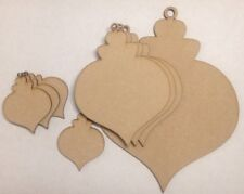 wooden baubles round Xmas wood 3mm mdf craft blanks Christmas gift tags