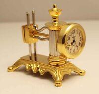 Bulova Miniature Sewing Machine Clock B0536